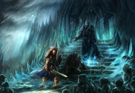 Болвар, поверженный Дранош и Артас у Врат Гнева