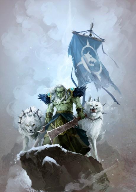 Генерал Дрек'Тар и его верные белоснежные волки