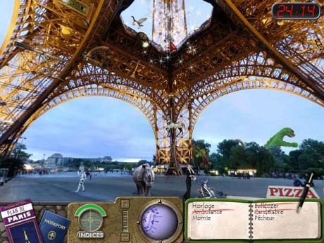 Вид Эйфелевой башни в Travelogue 360: Paris
