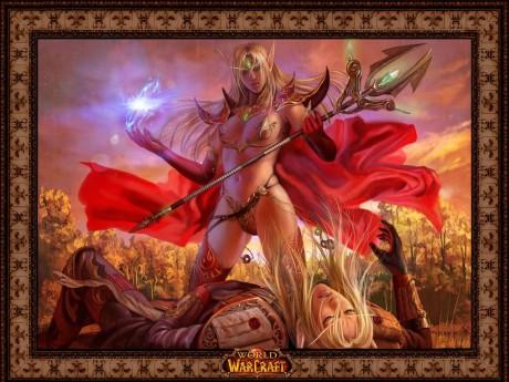 Секси маг эльфийка крови