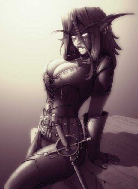 Секси эльфийка-пират