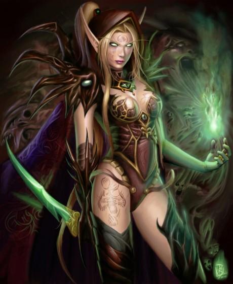 Секси чернокнижница эльфийка крови