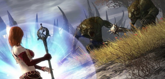Элементалист и двухголовые орки в Guild Wars 2