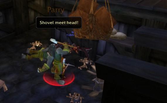 Лопатой по голове!