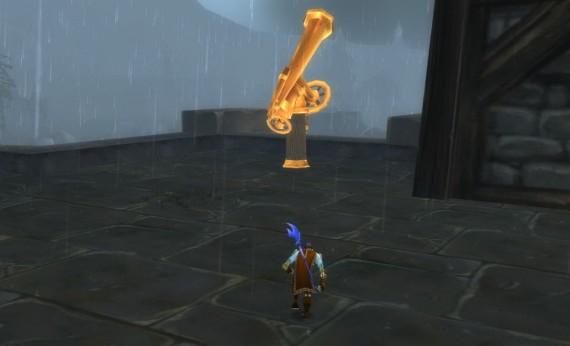 Большая золотая подзорная труба