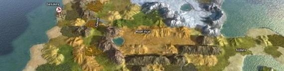Карта Азерота в Civilization 5
