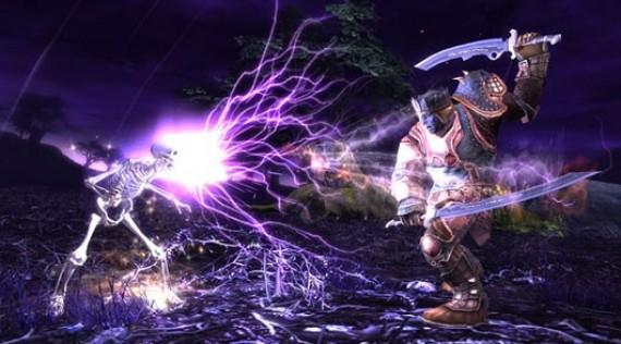 Воин против скелета в MMORPG RIFT